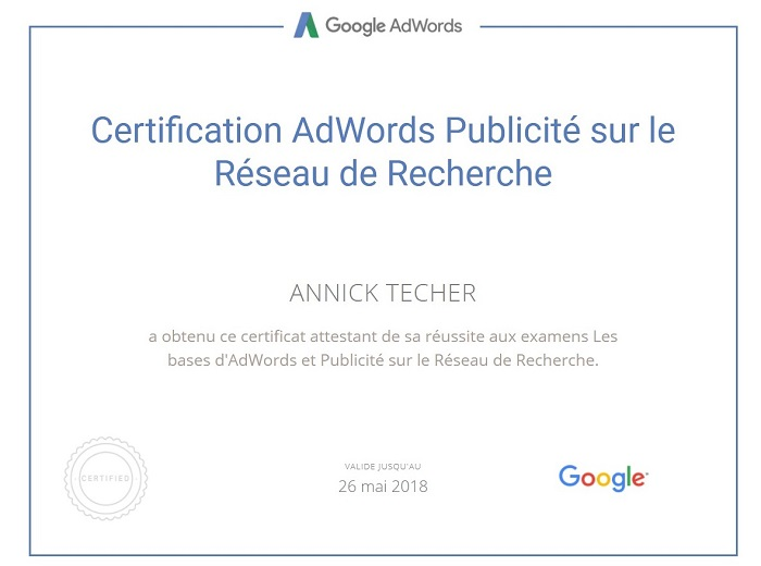 Certif AdWords